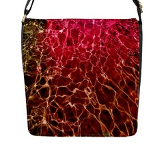 Background Water Abstract Red Wallpaper Flap Messenger Bag (l)