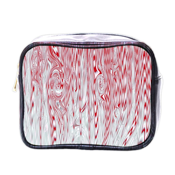 Abstract Swirling Pattern Background Wallpaper Pattern Mini Toiletries Bags
