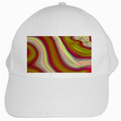 Artificial Colorful Lava Background White Cap by Simbadda