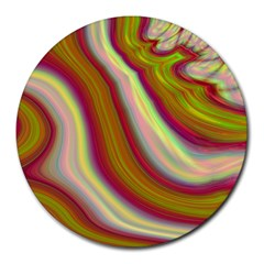 Artificial Colorful Lava Background Round Mousepads by Simbadda