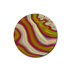 Artificial Colorful Lava Background Rubber Round Coaster (4 Pack)  by Simbadda