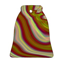 Artificial Colorful Lava Background Bell Ornament (two Sides)