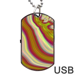 Artificial Colorful Lava Background Dog Tag Usb Flash (two Sides) by Simbadda