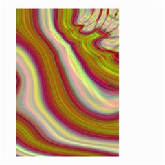 Artificial Colorful Lava Background Small Garden Flag (two Sides) by Simbadda