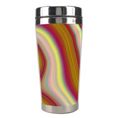 Artificial Colorful Lava Background Stainless Steel Travel Tumblers by Simbadda