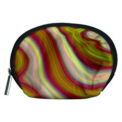 Artificial Colorful Lava Background Accessory Pouches (medium)  by Simbadda