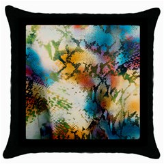 Abstract Color Splash Background Colorful Wallpaper Throw Pillow Case (black) by Simbadda