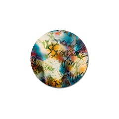 Abstract Color Splash Background Colorful Wallpaper Golf Ball Marker