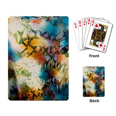 Abstract Color Splash Background Colorful Wallpaper Playing Card by Simbadda