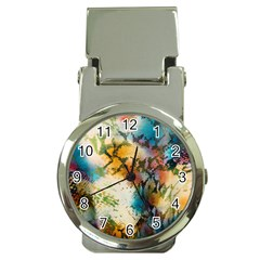 Abstract Color Splash Background Colorful Wallpaper Money Clip Watches by Simbadda