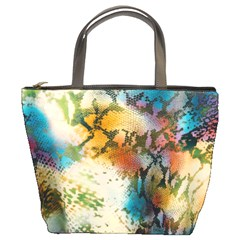 Abstract Color Splash Background Colorful Wallpaper Bucket Bags by Simbadda
