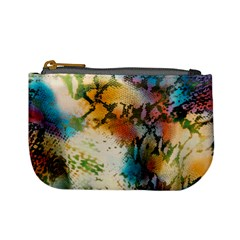 Abstract Color Splash Background Colorful Wallpaper Mini Coin Purses by Simbadda