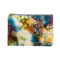 Abstract Color Splash Background Colorful Wallpaper Cosmetic Bag (large)
