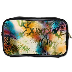 Abstract Color Splash Background Colorful Wallpaper Toiletries Bags by Simbadda