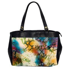 Abstract Color Splash Background Colorful Wallpaper Office Handbags (2 Sides)  by Simbadda