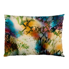 Abstract Color Splash Background Colorful Wallpaper Pillow Case (two Sides) by Simbadda