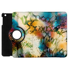 Abstract Color Splash Background Colorful Wallpaper Apple Ipad Mini Flip 360 Case by Simbadda