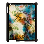 Abstract Color Splash Background Colorful Wallpaper Apple iPad 3/4 Case (Black) Front