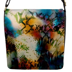 Abstract Color Splash Background Colorful Wallpaper Flap Messenger Bag (s) by Simbadda