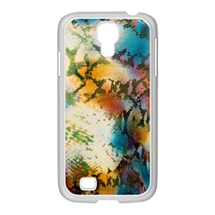 Abstract Color Splash Background Colorful Wallpaper Samsung Galaxy S4 I9500/ I9505 Case (white) by Simbadda