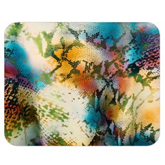 Abstract Color Splash Background Colorful Wallpaper Double Sided Flano Blanket (medium)  by Simbadda