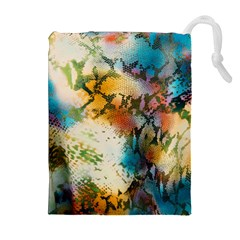 Abstract Color Splash Background Colorful Wallpaper Drawstring Pouches (extra Large) by Simbadda