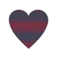 Abstract Tiling Pattern Background Heart Magnet