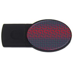 Abstract Tiling Pattern Background Usb Flash Drive Oval (2 Gb) by Simbadda