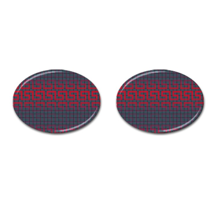 Abstract Tiling Pattern Background Cufflinks (Oval)