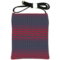 Abstract Tiling Pattern Background Shoulder Sling Bags by Simbadda