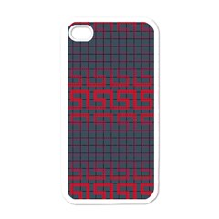 Abstract Tiling Pattern Background Apple Iphone 4 Case (white)