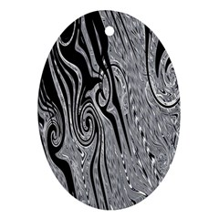 Abstract Swirling Pattern Background Wallpaper Oval Ornament (two Sides) by Simbadda