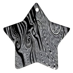 Abstract Swirling Pattern Background Wallpaper Star Ornament (two Sides)