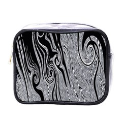 Abstract Swirling Pattern Background Wallpaper Mini Toiletries Bags by Simbadda
