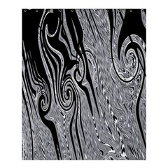 Abstract Swirling Pattern Background Wallpaper Shower Curtain 60  X 72  (medium)  by Simbadda