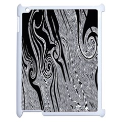 Abstract Swirling Pattern Background Wallpaper Apple Ipad 2 Case (white) by Simbadda