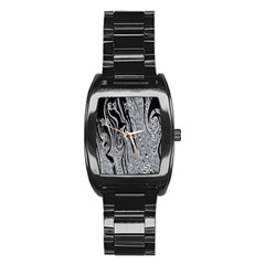 Abstract Swirling Pattern Background Wallpaper Stainless Steel Barrel Watch by Simbadda