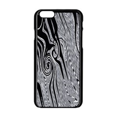 Abstract Swirling Pattern Background Wallpaper Apple Iphone 6/6s Black Enamel Case