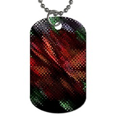 Abstract Green And Red Background Dog Tag (two Sides)