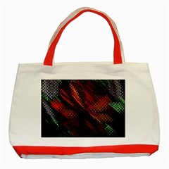 Abstract Green And Red Background Classic Tote Bag (red)