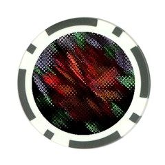 Abstract Green And Red Background Poker Chip Card Guard (10 Pack)