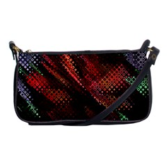 Abstract Green And Red Background Shoulder Clutch Bags