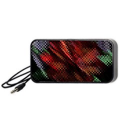 Abstract Green And Red Background Portable Speaker (black) by Simbadda