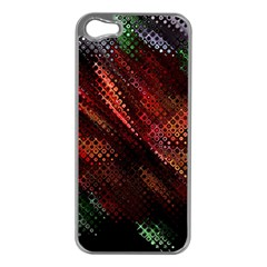 Abstract Green And Red Background Apple Iphone 5 Case (silver)