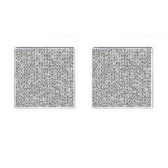 Abstract Knots Background Design Pattern Cufflinks (square) by Simbadda