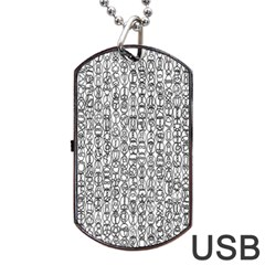 Abstract Knots Background Design Pattern Dog Tag Usb Flash (two Sides) by Simbadda