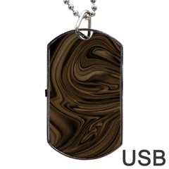 Abstract Art Dog Tag Usb Flash (two Sides)