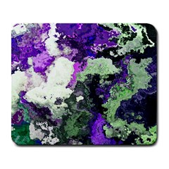 Background Abstract With Green And Purple Hues Large Mousepads