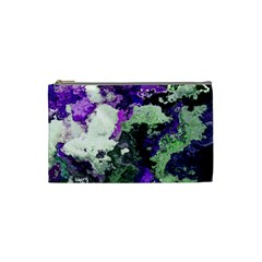 Background Abstract With Green And Purple Hues Cosmetic Bag (small)