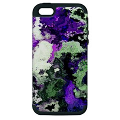 Background Abstract With Green And Purple Hues Apple Iphone 5 Hardshell Case (pc+silicone)